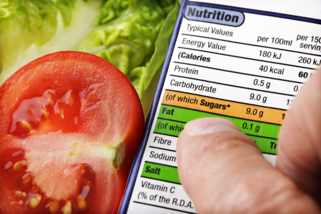 SYH Nutrition Label